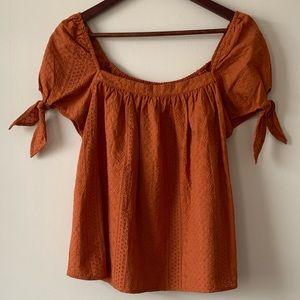Universal thread Orange burn top size M